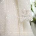 2018 роскошный белый цвет тяжелых вышитый бисером длинный рукав Китай свадебное платье сшитое