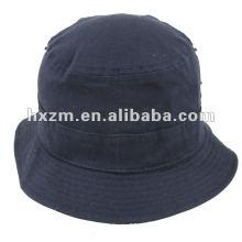 blank navy blue canvas bucket hat