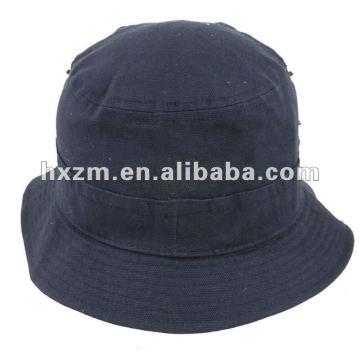 Chapeau de seau en toile marine bleu marine
