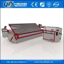 2000mm * 6000mm UHP Boden Lading CNC große Glas Schneiden Wasserstrahlmaschine