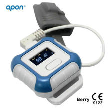 OLED Wrist Watch Pulse Oximeter Pulse Oximetry with SpO2 Sensor SpO2 Pulse Monitor Oxygen Saturation Monitor with Finger Sensor Medical Products Equipment