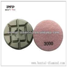 Coussinets en diamant pour le polissage des pierres