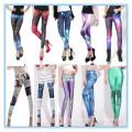 Leggings de las mujeres de la impresión de OEM Digital, legging inconsútil