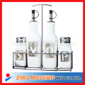 Condiment Set With Stainless Steel Design