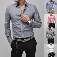 Mens-Knopf-vorderes dünnes Sitz-Kleid-beiläufige formale Hemden