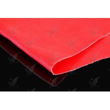 Tissu en fibre de verre en caoutchouc silicone en couleur rouge