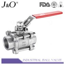 Válvula de esfera 1000wog de aço pesado de aço inoxidável 3PCS