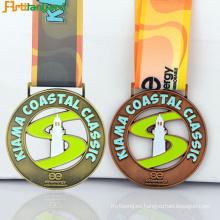 Medalla deportiva de diseño más reciente con galjanoplastia