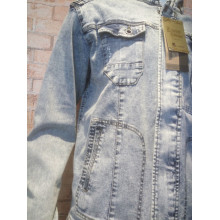 Flexible Size Warm Weather Cool Feel Denim Jacket