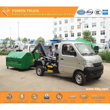 CHANGAN gasoline hook lift garbage truck euro5 2.5m3