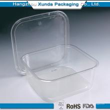 Bandeja de alimentos congelados de plástico transparente Embalagem