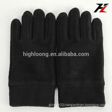 Black wholesale fleece gloves with factory price