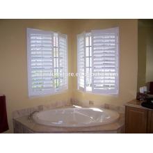 Estanques à base de vinil à prova d'água e estanques à moda, persianas de banheiro, persianas de plantação pintadas de branco