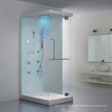 Cabine de duche de alta qualidade em vidro temperado para banho a vapor