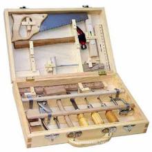 Wooden Toys Wooden Tool Box--16 PCS