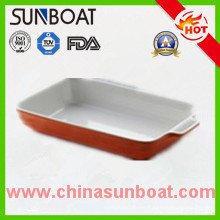 Durable Rectangular Enamel Loaf Pan/Plate