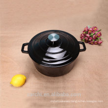 hot sale small size enamel cast iron black pot