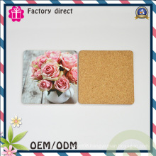 Flower Picture Design Cork Material Coaster