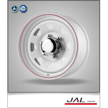 2015 good quality 8 spoke white steel wheels 5-4.5