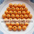 Orange Color Factory Price Acrylic Round Disco Dot Beads 5MM
