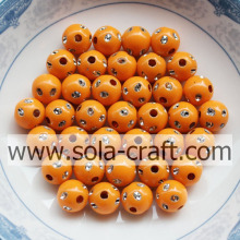 Orange Color Factory Price Acrylic Round Disco Dot Beads 5MM