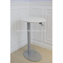 iron metal gas lift adjustable table base