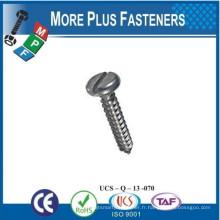 Fabriqué en Taiwan ISO 1481A2 Vis à taraudage à tête creuse en acier inoxydable DIN 7971 C