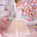 2017 New Model Designs Elegant Summer Girl Frock Dresses for Birthday Party