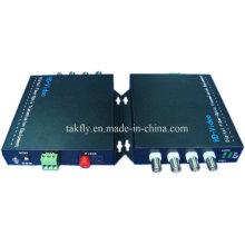 Transmisión de fibra de video competitiva 4 CH 1080P Ahd & Cvi & Tvi resolución