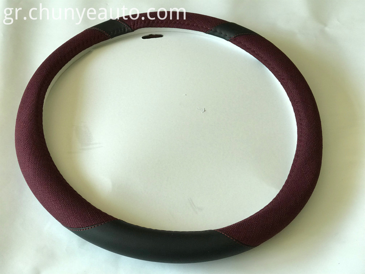 universal flax fiber steering wheel cover