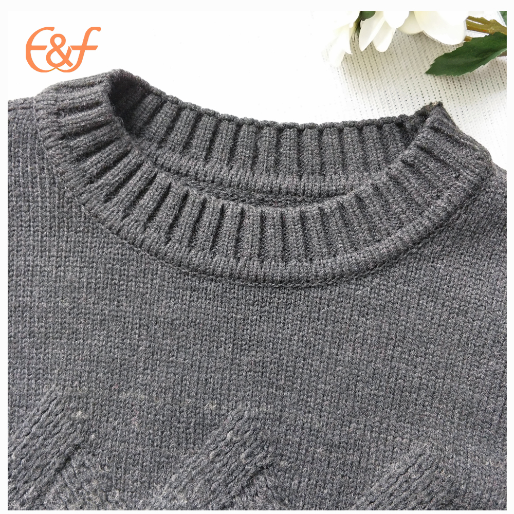 Round neck mens heavy sweater