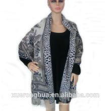 feine Kaschmir und Wolle gemischt Frau digital bedruckte Doppel-Gesicht Schal