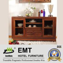 Material de madera de goma Gabinete lateral de madera (JZ-C-4002)