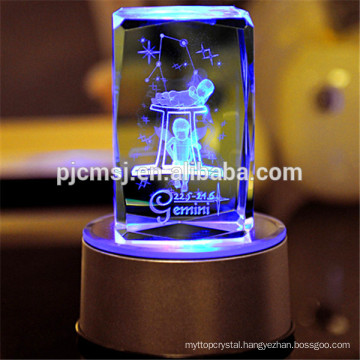 3D Laser Crystal of Gemini,Twelve Constellations,for Birthday gifts or Souvenir