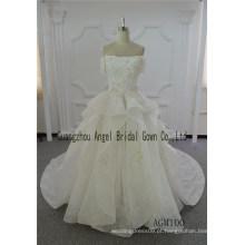 Vestido de casamento marfim vestido de baile vestido de vestido de trem longo