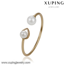 51779 xuping atacado Charme jóias banhado a ouro elegante pérola pulseira para as mulheres