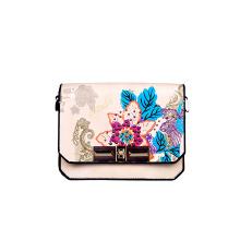 Luxury Bag Stamping Embroidering Print Flower Ladies Messenger Bag Saddle Bag Cross Bag (F51)