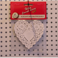Heart shape paper doily 4.5inch header card