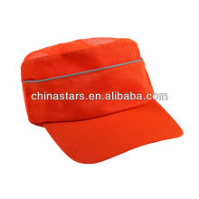 high vis orange breathable safety cap