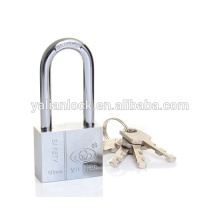 Heavy duty Square Type Long Shackle Vane Key Chrome Plated Iron Padlock