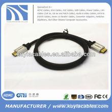 Green Metal Sliver Metall HDMI Kabel