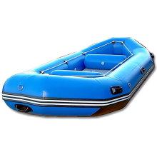 Blaues Schlauchboot zum Angeln oder Treiben (SH)