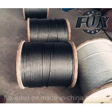 Rejeitarem galvanizado aço corda de fio e de fábrica