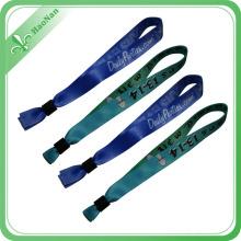 Bracelet promotionnel de polyester imprimé personnalisé de haute qualité
