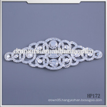 hotfix motif rhinestone applique trim rhinestone patch embroidered