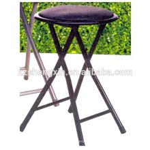 Металлический складной барный стул с губкой