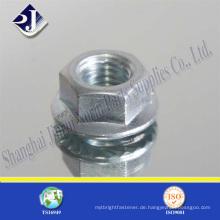 Porzellanqualität 8 Stahl DIN6923 Mutter