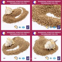 precio del fabricante de nogal en polvo de pulido de conchas para joyería