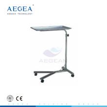 AG-SS008 Krankenhaus Tablett Ständer Klinik Instrumente Wagen mit einem Pfosten