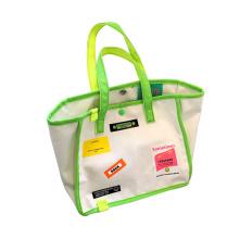 Custom Design Lovely Applique Large Capacity Carry Bag Custom Cotton Beach Bag Canvas Tote Bag for Ladies